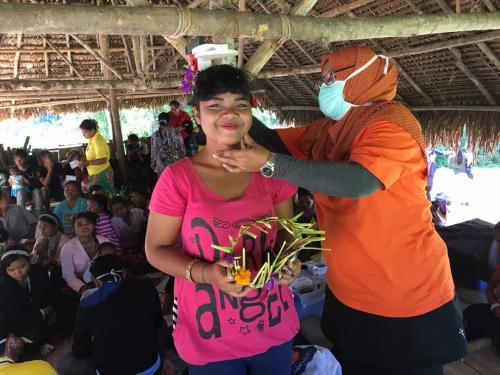 Health screening activity at Kampung Kedled, Pos Piah, Perak